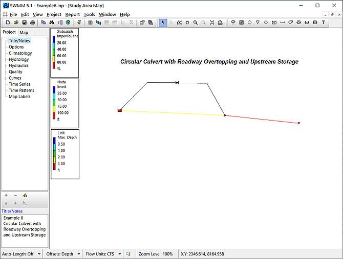 SWMM 5.1 模拟过路管涵道路漫流