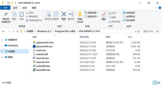 SWMM文件组成