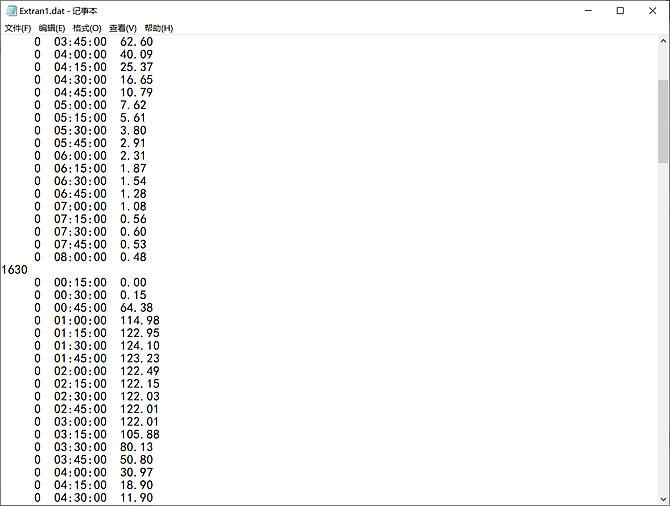 SWMM率定文件