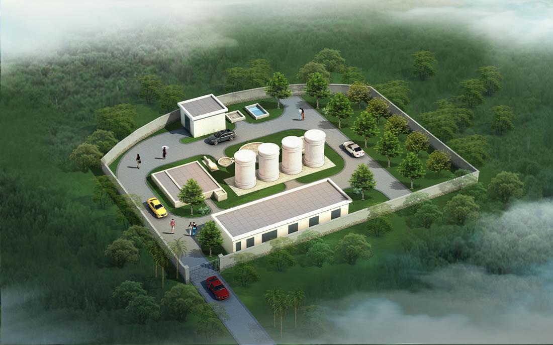 污水处理厂效果图