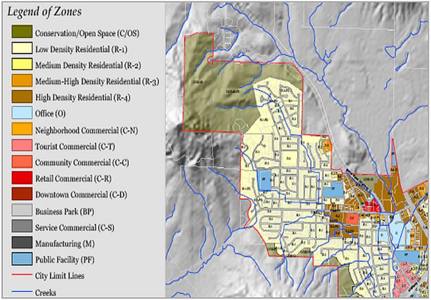 圣路易斯-奥比斯波是土地利用局部图,加利福尼亚州