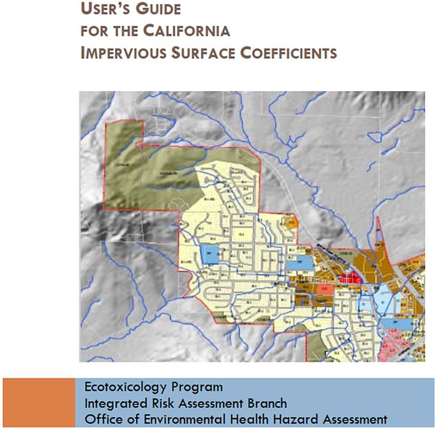 加利福尼亚州不透水地面率-用户指导手册
