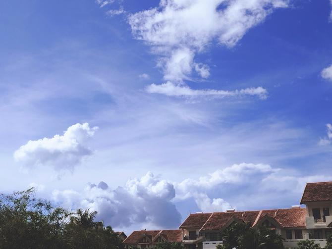 三亚海棠区的天空