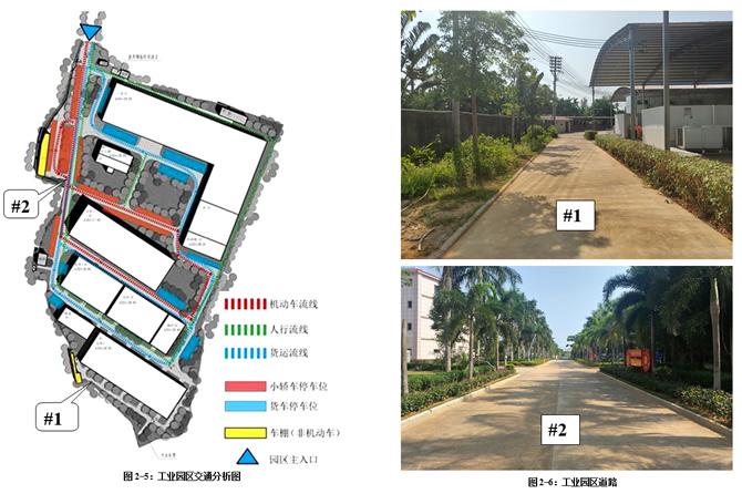 工业园区交通分析图及厂区现状道路