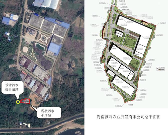污水提升泵站建设地点周边现状图及规划图