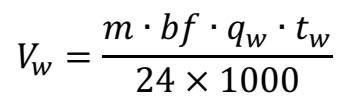 化粪池污水容积计算公式