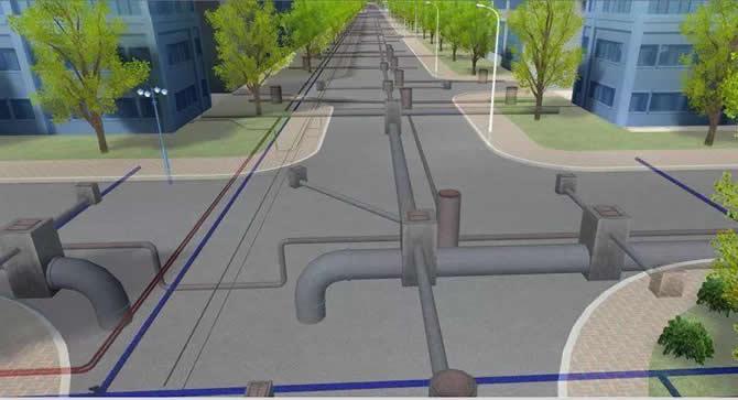 居住小区给水管与建筑物、构筑物以及其它综合管线的最小平面、垂直净距