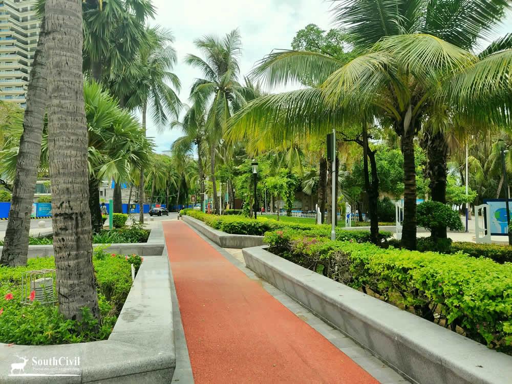 三亚湾海月广场景观