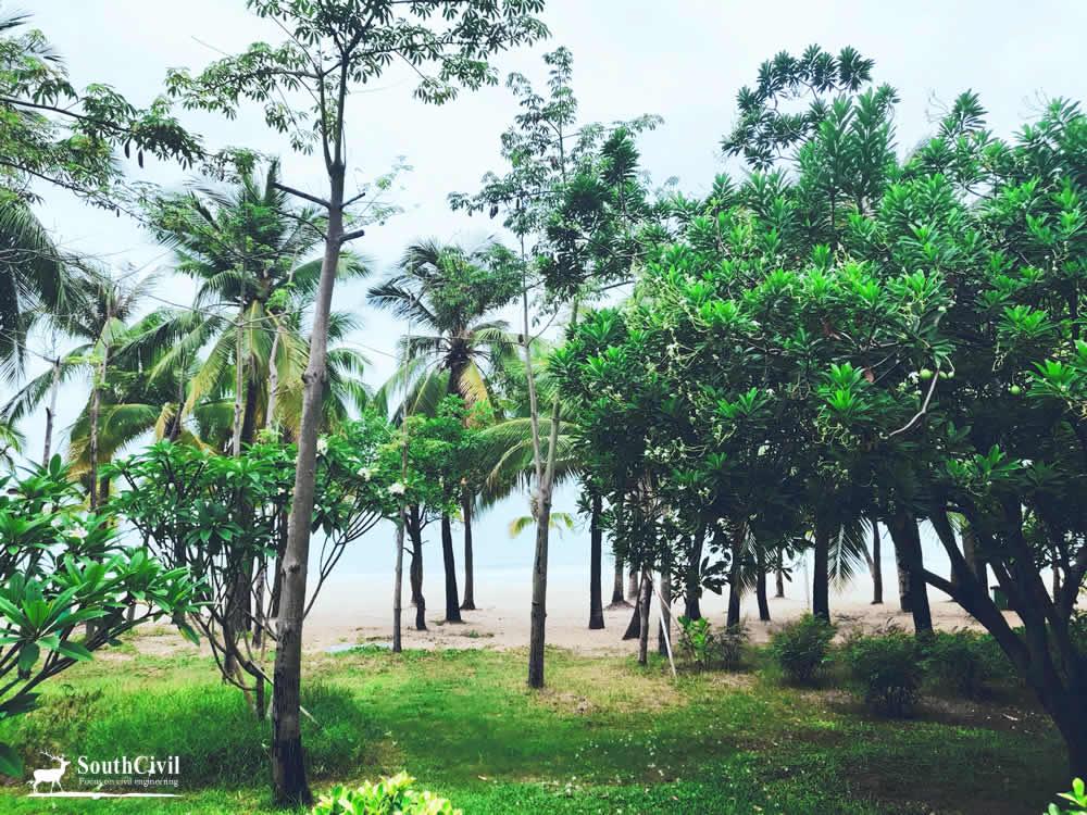 三亚湾绿道和海滩
