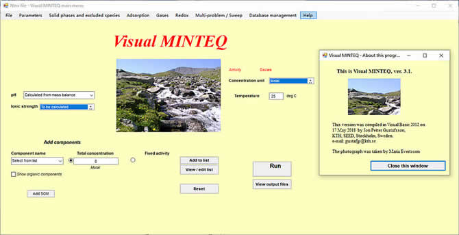 Visual MINTEQ 3.1 - 1