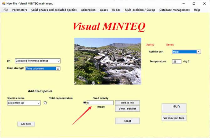 Visual MINTEQ 3.1 - 9
