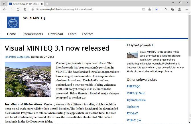 Visual MINTEQ 3.1